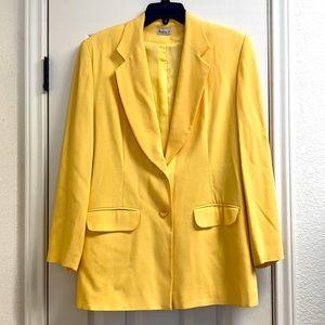Vintage Barbara L wool blend long oversize blazer